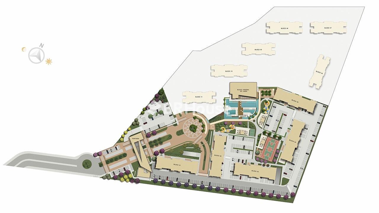 Reserva Parque Clube – Apartamentos 2 e 3, 96,71 m² a 185,04 m² à venda em Águas Claras – Implantação