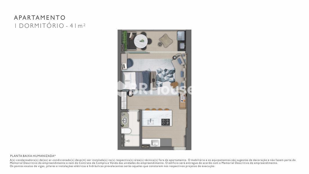 Vista – Plantas – Apartamento 2 Quartos - 60 m²