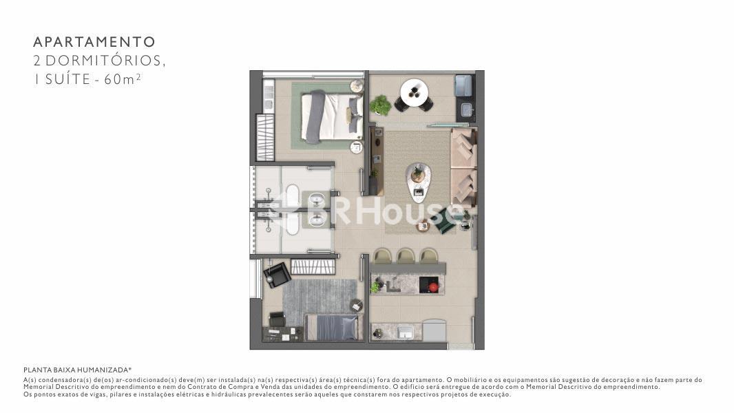 Vista – Plantas – Apartamento 1 Quarto - 41 m²