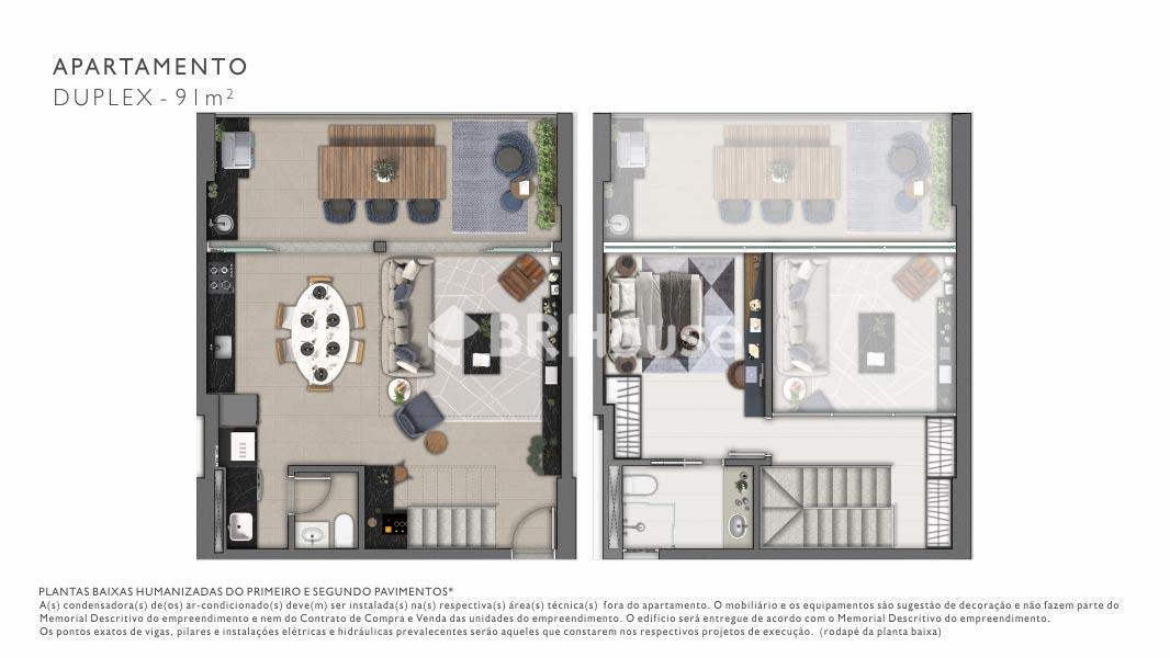 Vista – Plantas – Apartamento Duplex - 91m²