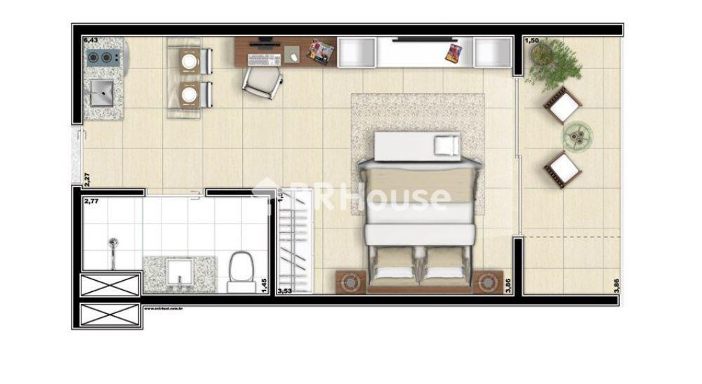 apartamento de 34,43m²