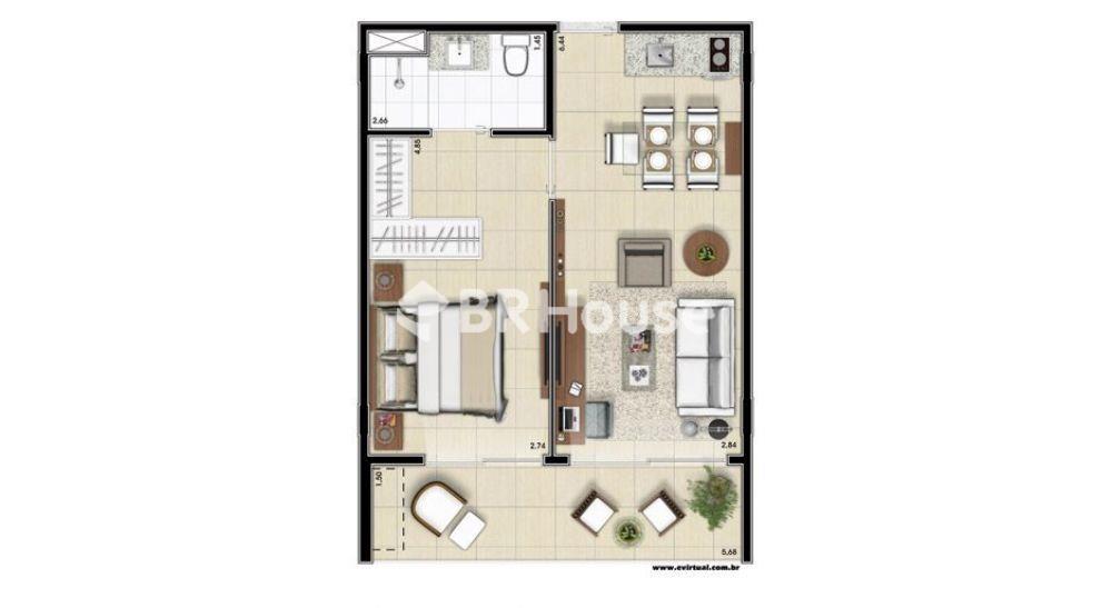 apartamento de 48,43m²