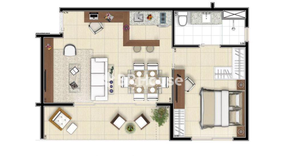 apartamento de 51,11m²