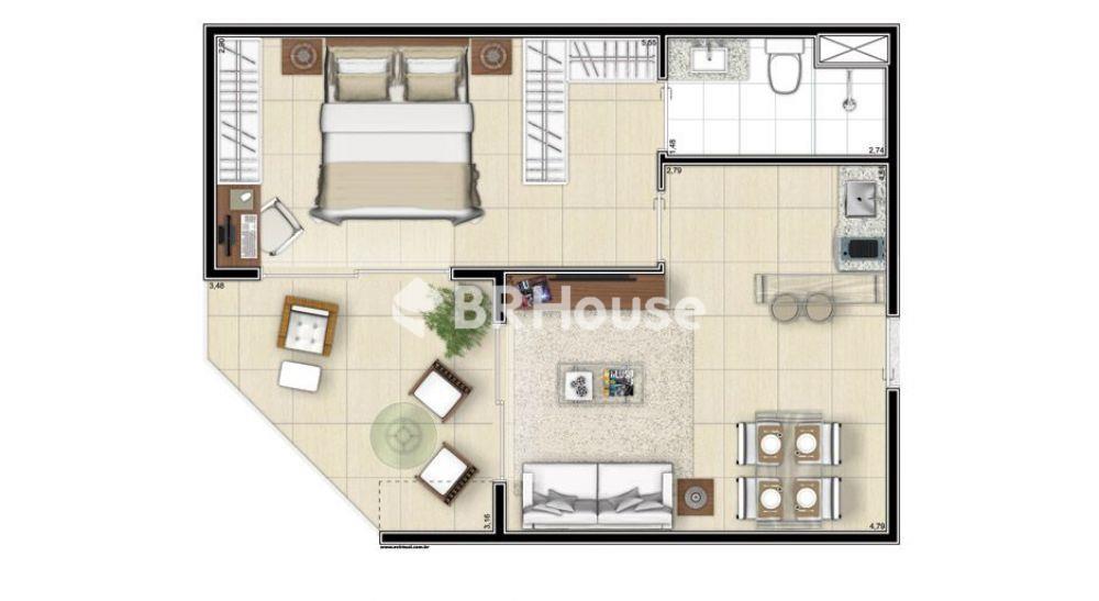 apartamento de 54,49m²