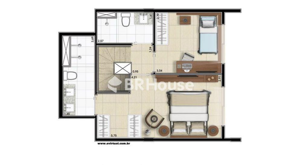 penthouse 121,93m² planta superior