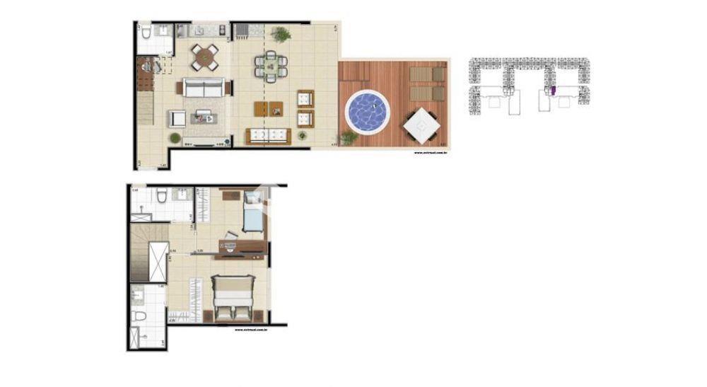 penthouse 122,58m² planta inferior