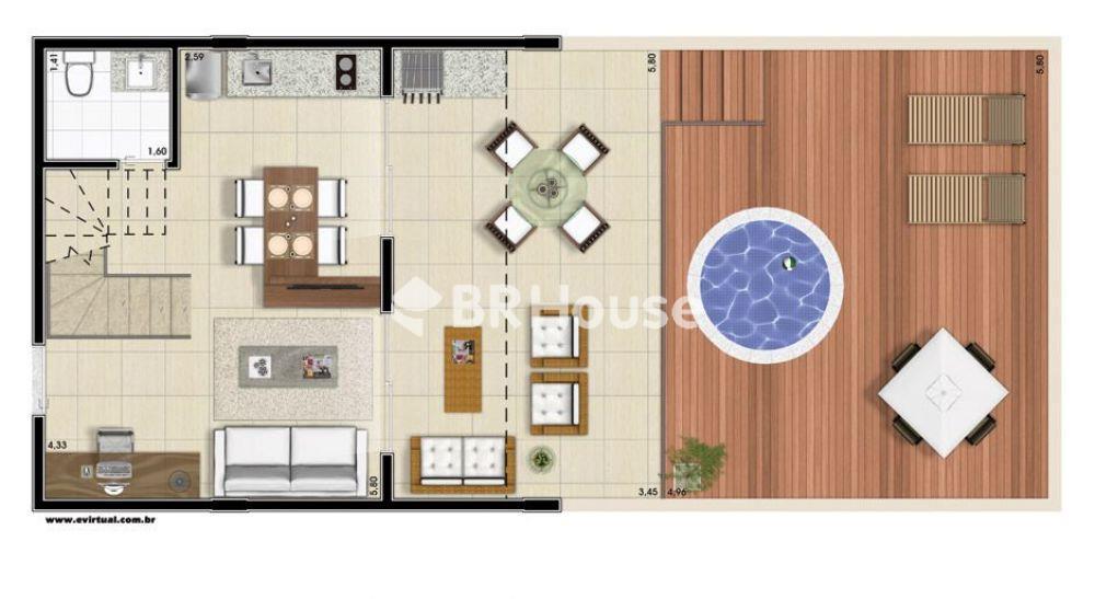 penthouse 121,93m² planta inferior
